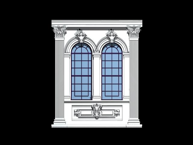 Gothic Window 3d Model Cadnav