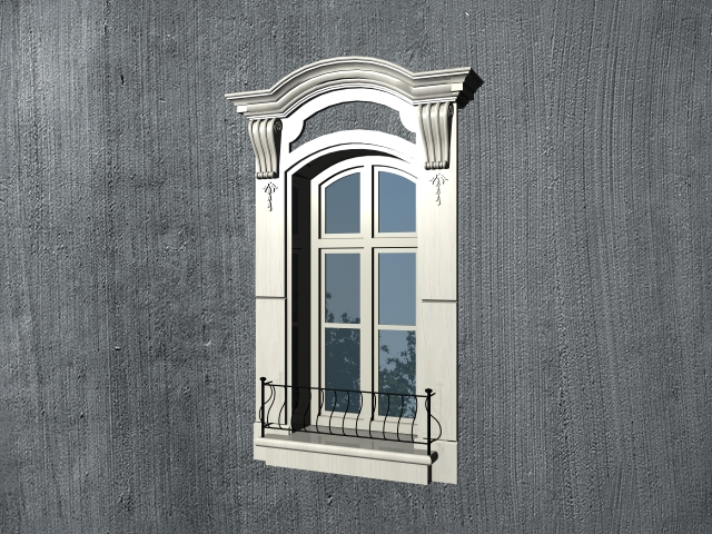 Spanish style window with trim 3d model 3ds max files free download