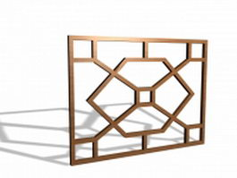 Chinese window grills 3d model