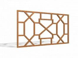 Decorative wood window grills 3d model
