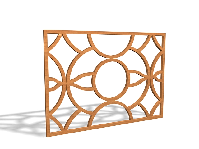Wood window grilles design d model ds max files free