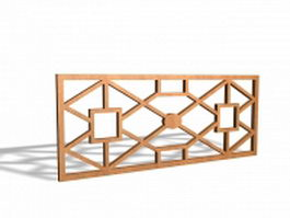Latticework window grill inserts 3d model