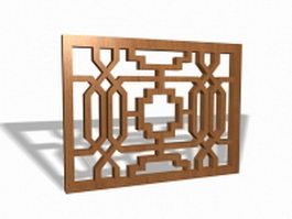 Lattice work panels 3d model