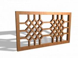 Oriental lattice panel 3d model