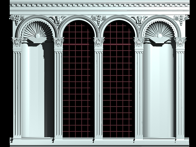 Medieval arched window 3d model 3ds max files free for Window 3d model