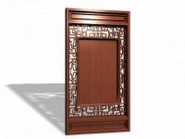 Chinese carved lattice panels 3d model