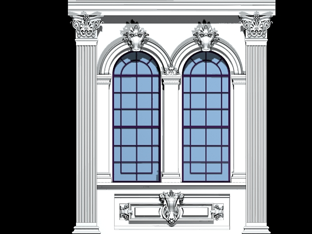 Renaissance windows 3d model 3ds max files free download for Window design model