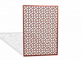 Latticework panel 3d model