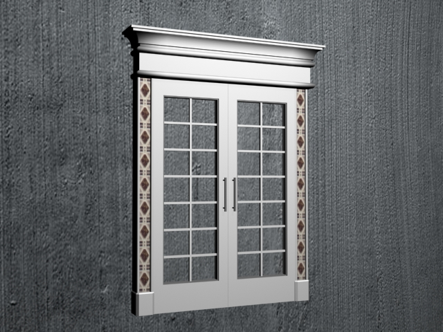 French window 3d model 3ds max files free download for Window 3d model