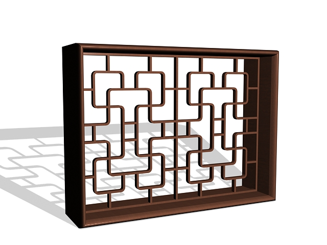 Japanese lattice window 3d model 3ds max files free for Japanese window design