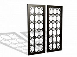 Framed lattice panels 3d model