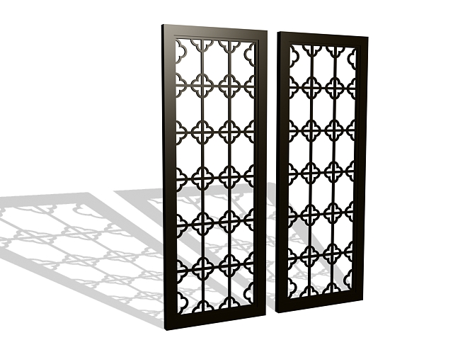 Framed lattice panels 3d model 3ds max files free download ...