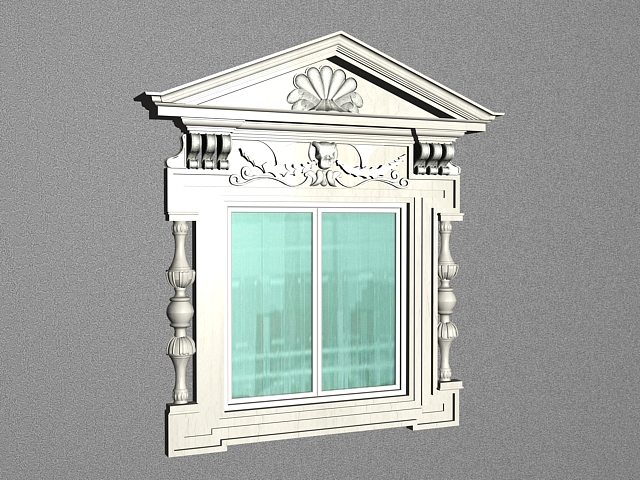 European Style Window 3d Model 3ds Max Files Free Download