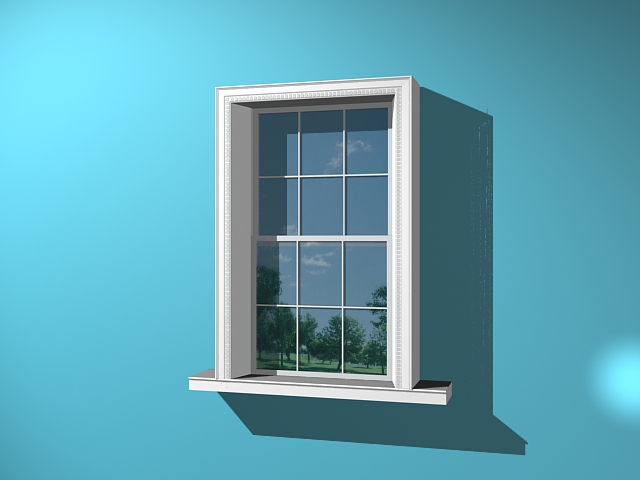 Glass window design 3d model 3ds max files free download for Window 3d model