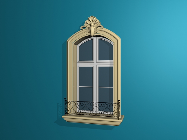 Spanish colonial style window 3d model 3ds max files free - 3d max models free download exterior ...