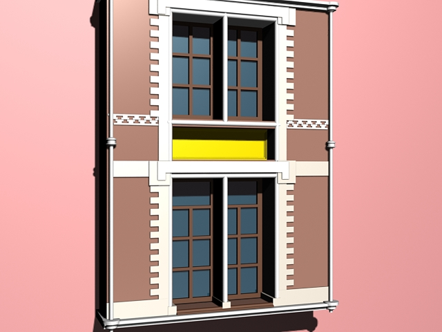 Colonial Style Windows 3d Model 3ds Max Files Free