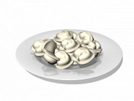 Plate of dumplings 3d preview