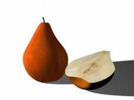 Pear sross section 3d model