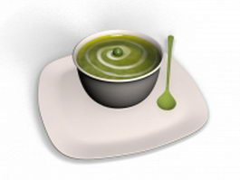 Bowl of soup 3d model