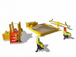 Outdoor playsets for toddlers 3d preview