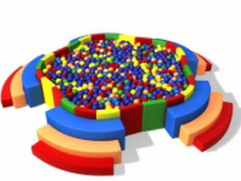 Kids ball pool 3d model