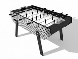 Soccer foosball game table 3d model