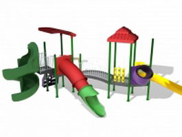 Plastic playground slides 3d model