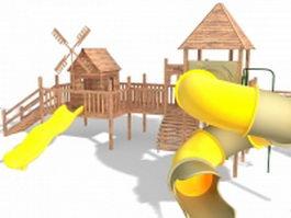 Outdoor play castle 3d model