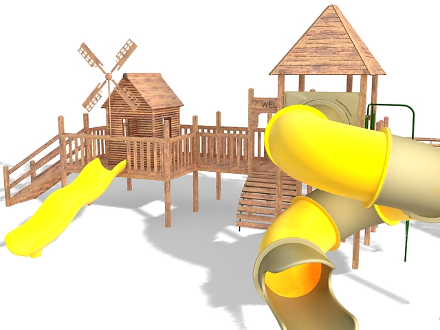 Outdoor Play Castle 3d Model 3ds Max Files Free Download
