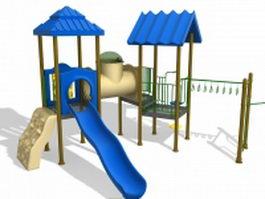Outdoor playset equipment 3d model