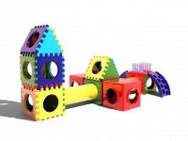 Large building blocks 3d model