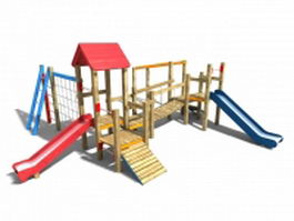 Outdoor wood playsets 3d model