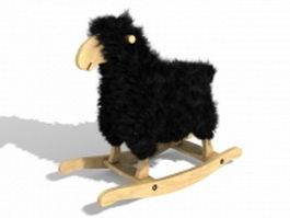 Plush rocking horse 3d model