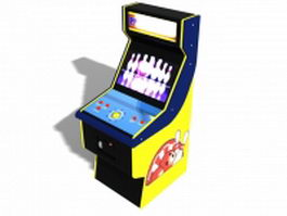 Bowling arcade game machine 3d model