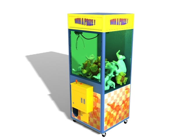 Claw crane machine 3d model 3ds max files free download - modeling