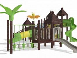 Backyard playset 3d model