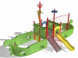 Pirate ship slide 3d model