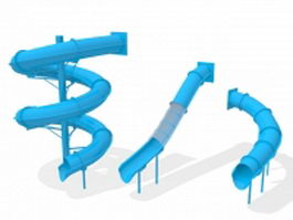 Playground slide sets 3d model