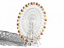 Classic ferris wheel 3d model