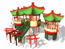 Outdoor castle playset 3d model