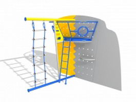 Climbing frame toy 3d model