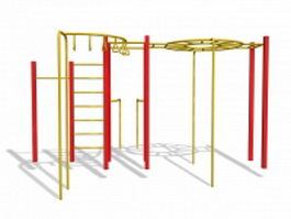 Monkey bar playset 3d model