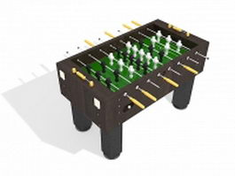 Soccer foosball table 3d model