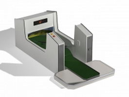 Golf putting practice machine 3d model