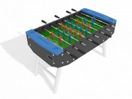 Foosball table 3d preview