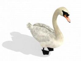 White goose 3d model