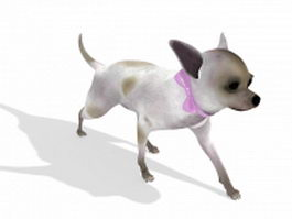 Cute small dog 3d model