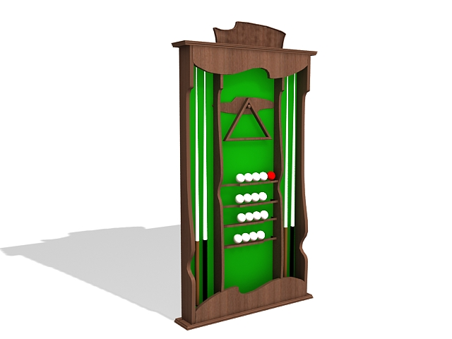 Pool Cue Wall Rack 3d Model 3ds Max Files Free Download