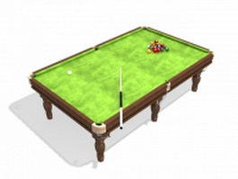 American standard pool table 3d model