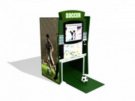 Soccer arcade machine 3d model